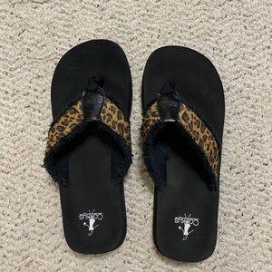 Women's Leopard Corky Sandals